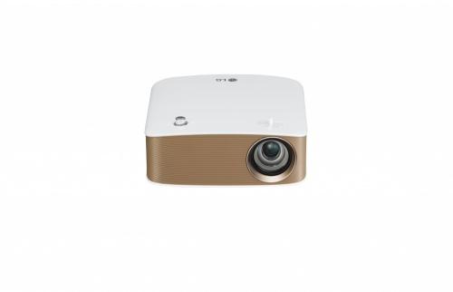 Proyector Portátil LG PH150G LCOS, 720p 1280 x 720, 130 Lúmenes, Bluetooth, Inalámbrico, con Bocinas, Oro/Blanco