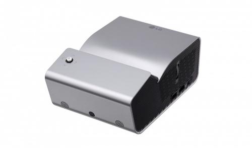 Proyector Portátil LG PH450U DLP, WXGA (1280x720), 450 Lúmenes, Bluetooth, Tiro Corto, 3D, con Bocinas, Negro/Plata