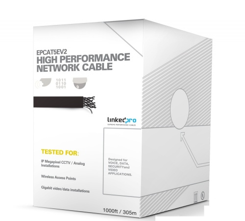 LinkedPRO Bobina de Cable Cat5e UTP, 305 Metros, Blanco