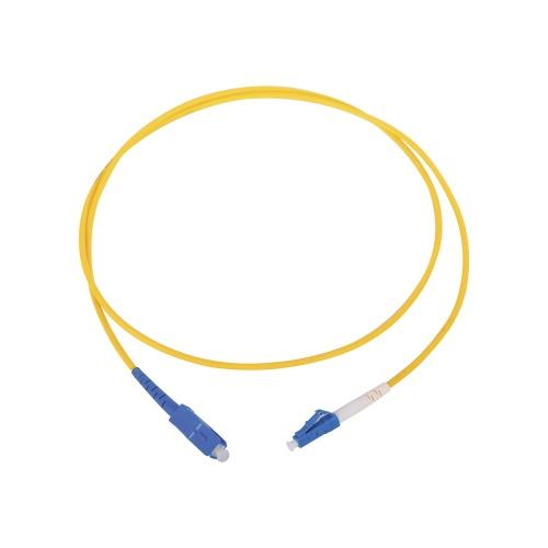 LinkedPRO Cable Fibra Óptica Monomodo LC Macho - SC Macho, 1 Metro, Amarillo