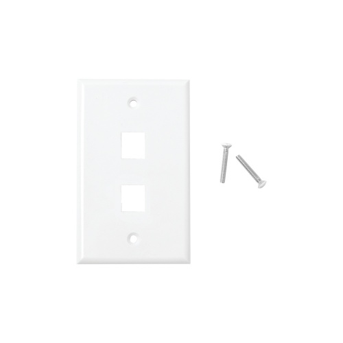 LinkedPRO Placa de Pared RJ-45, 2 Puertos, Blanco