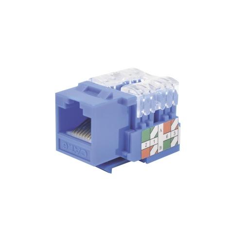 LinkedPRO Conector Jack RJ-45 Cat6e, Azul