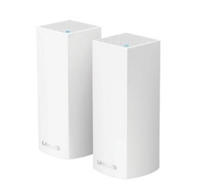 Router Linksys con Sistema de Red Wi-Fi en Malla Velop, 867 Mbit/s, 2.4/5GHz, 2x RJ-45 - Kit de 2 Piezas