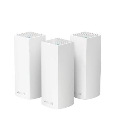 Router Linksys con Sistema de Red Wi-Fi en Malla Velop, 867 Mbit/s, 2.4/5GHz, 2x RJ-45 - Kit de 3 Piezas