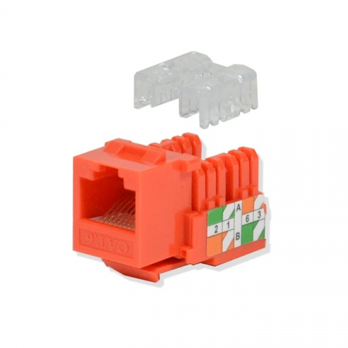 Logico Jack de Red Cat6, Naranja