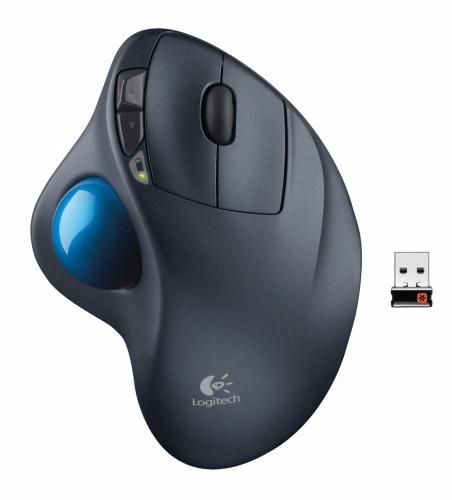 Mouse Logitech Láser M570 Trackball, Inalámbrico, Negro