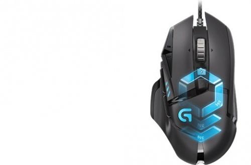 Mouse Gamer Logitech Óptico G502 Proteus Spectrum, Alámbrico, 12000DPI, USB, Negro/Azul
