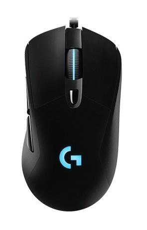 Mouse Gamer Logitech Óptico G403 Prodigy, Alámbrico, USB, 12000DPI, Negro
