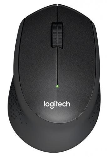 Mouse Logitech Óptico M330 Silent Plus, Inalámbrico, USB, 1000DPI, Negro