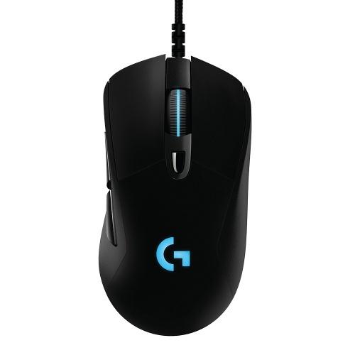 Mouse Gamer Logitech Óptico G403 Hero, Alámbrico, USB, 16.000DPI, Negro