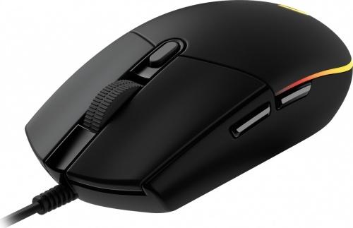 Mouse Gamer Logitech Óptico G203 LightSync, Alámbrico, USB, 8000DPI, Negro