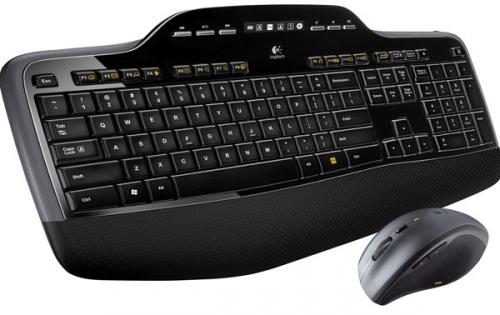 Kit de Teclado y Mouse Logitech MK710, Inalámbrico, USB, Negro