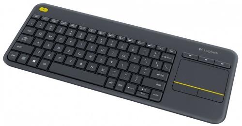 Teclado Logitech Touch K400 Plus, Inalámbrico, USB, Negro (Español)