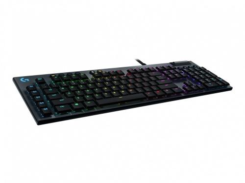 Teclado Gamer Logitech LightSync G815 RGB, Teclado Mecánico, GL Táctil, Alámbrico, Negro (Inglés)