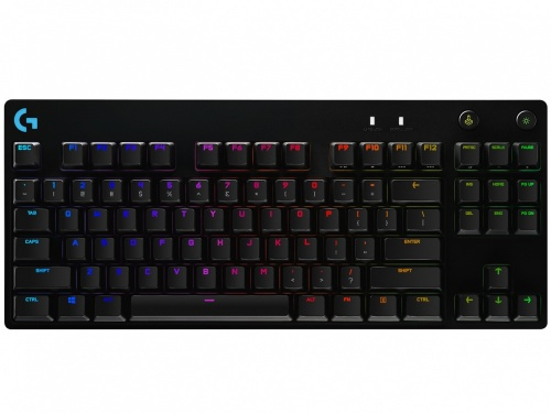 Logitech Teclado Gamer G Pro RGB, Mecánico, Switch GX Blue, Alámbrico, Negro (Inglés)