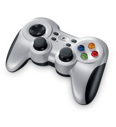 Logitech Gamepad F710, PC, Inalámbrico, Negro/Plata