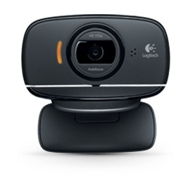 Logitech Webcam HD C525 con Micrófono, 8MP, 1280 x 720 Pixeles, USB 2.0, Negro