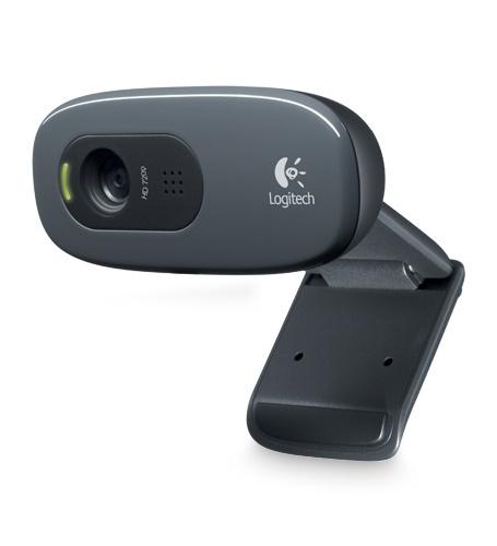 Logitech Webcam C270, 3MP, 1280 x 720 Pixeles, USB 2.0, Negro
