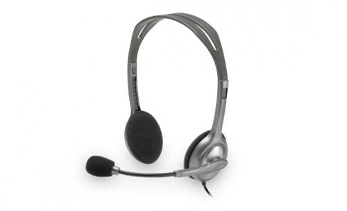 Logitech Audífonos con Micrófono H111, Alámbrico, 1.8 Metros, Gris