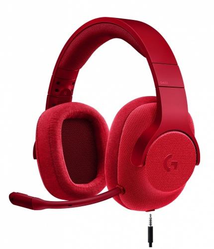 Logitech Audífonos Gamer G433 7.1, Alámbrico, 2 Metros, 3.5mm, Rojo