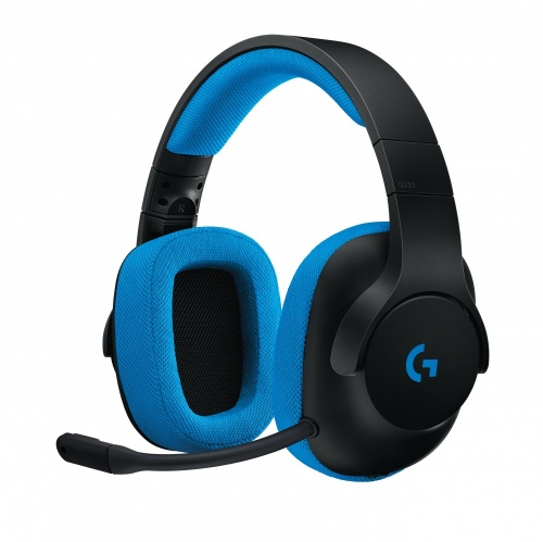 Logitech Audífonos Gamer G233, Alámbrico, 2 Metros, 3.5mm, Negro/Azul
