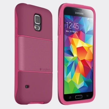 Logitech Funda Protection [+] para Galaxy S5, Rosa