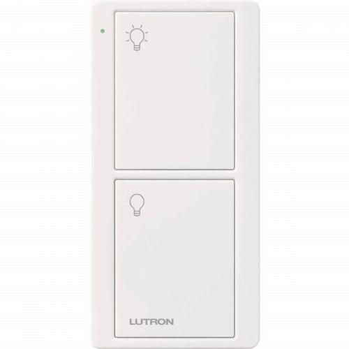 Lutron Interruptor Inteligente de 2 Botones PICO, RF Inalámbrico, Blanco