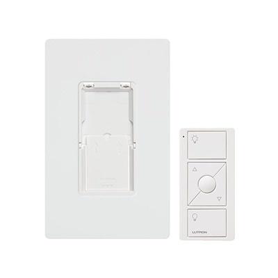 Lutron Kit Regulador Inteligente con Control Remoto PJ2-WALL-WH-L01, Blanco