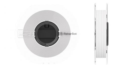 MakerBot Bobina de Filamento SR-30, 1.75mm, 450g, Blanca, para Method X