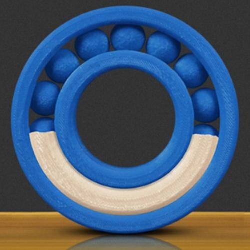 MakerBot Bobina de Filamento Soluble, Diámetro 1.75mm, 1kg, Azul/Blanco