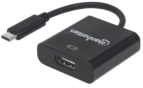 Manhattan Adaptador USB-C 3.1 Macho - HDMI Hembra, Negro
