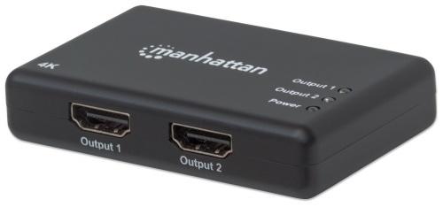 Manhattan Divisor de Video HDMI, 2x HDMI, Negro