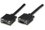 Manhattan Cable para Monitor SVGA 8mm, HD15 Macho - HD15 Hembra, 15 Metros, Negro