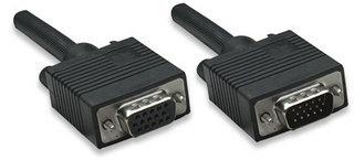 Manhattan Cable para Monitor SVGA 8mm, HD15 Macho - HD15 Hembra, 7.5 Metros, Negro