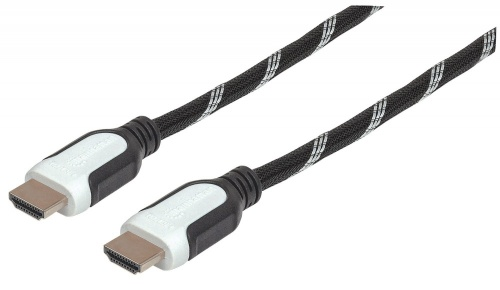 Manhattan Cable HDMI Macho - HDMI Macho, 50cm, Negro/Blanco