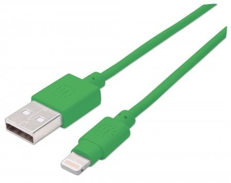 Manhattan Cable iLynk USB A Macho - Lightning Macho, 1 Metro, Verde