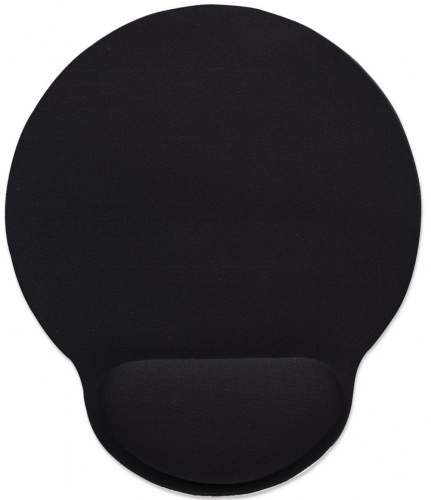 Mousepad Manhattan con Descansa Muñecas de Gel, 20x24cm, Grosor 4mm, Negro