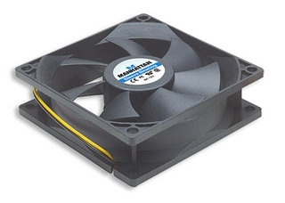 Ventilador Manhattan 4-pin para PC, 80mm, 2500RPM, Negro