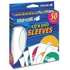 Maxell Sobre para CD/DVD, Blanco - 50 Piezas