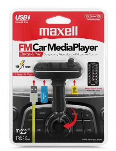 Maxell Transmisor de Audio Bluetooth para Auto, Negro