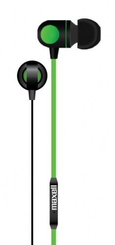 Maxell Audífonos Intrauriculares con Micrófono DOT-8, Alámbrico, 1.2 Metros, 3.5mm, Negro/Verde