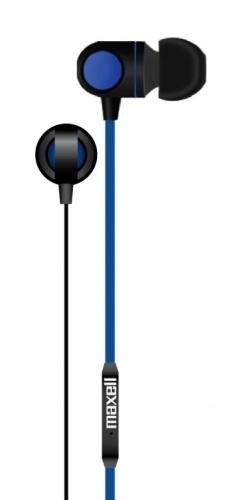 Maxell Audífonos Intrauriculares con Micrófono DOT-8, Alámbrico, 1.2 Metros, 3.5mm, Negro/Azul