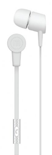Maxell Audífonos Intrauriculares con Micrófono Solid2, Alámbrico, 1.2 Metros, 3.5mm, Blanco