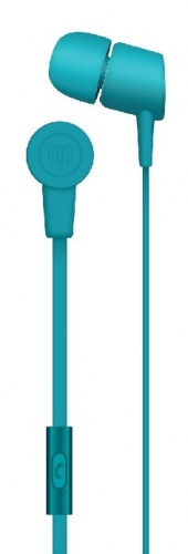 Maxell Audífonos Intrauriculares con Micrófono Solid2, Alámbrico, 1.2 Metros, 3.5mm, Azul