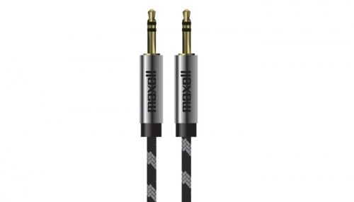 Maxell Cable AUX 3.5mm Macho - 3.5mm Macho, 1.37 Metros, Negro