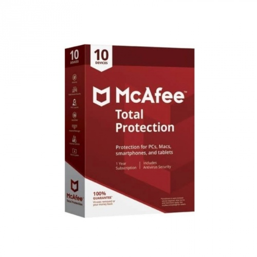 McAfee Total Protection, 10 Dispositivos, 1 Año, Windows/Mac/Android/iOS