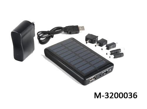 Meebox Cargador Solar M-3200036, USB, Negro