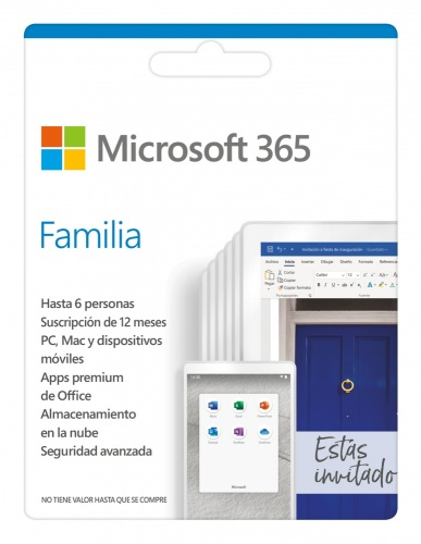 Microsoft Office 365 Hogar, 32/64-bit, 5 PC, 1 Año, Plurilingüe, Windows/Mac/Android/iOS ― Producto Digital Descargable ― ¡Compra y recibe $50 pesos de saldo para tu siguiente pedido!
