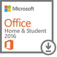 Microsoft Office Hogar y Estudiantes 2016, 32/64-bit, 1 PC, Plurilingüe, Windows ― Producto Digital Descargable