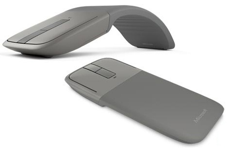 Mouse Microsoft BlueTrack Arc Touch, Bluetooth, Gris